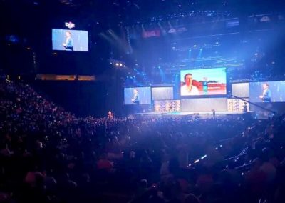 Michael Crossland presenting in front of 13,500 people at the MGM Grand Las Vegas
