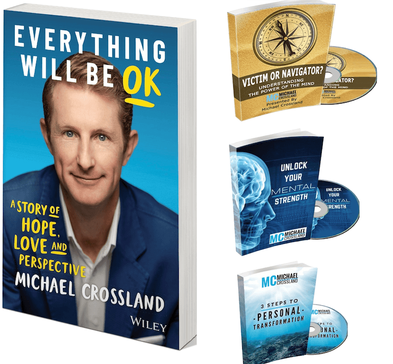 Join Michael for a fireside chat and get a signed copy of his new book plus his three audiobooks